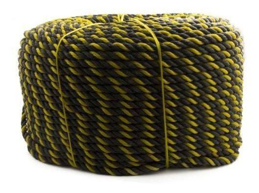 Corda De Polietileno Trancada Zebrada 16mmx200m