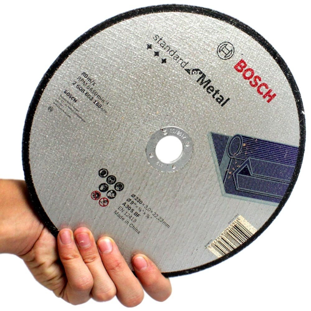 Disco de Corte p/ Metal 9 pol 228x3x22,23 Bosch 2608603168
