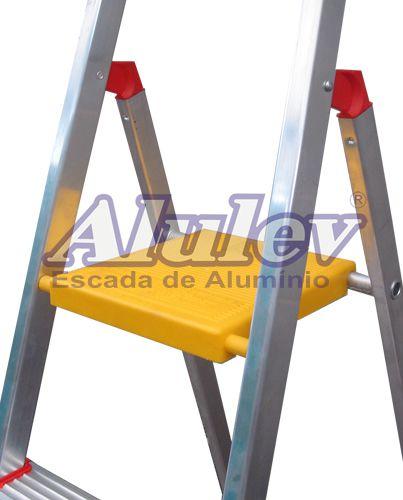 Escada De Aluminio Residencial Rn205 Alulev