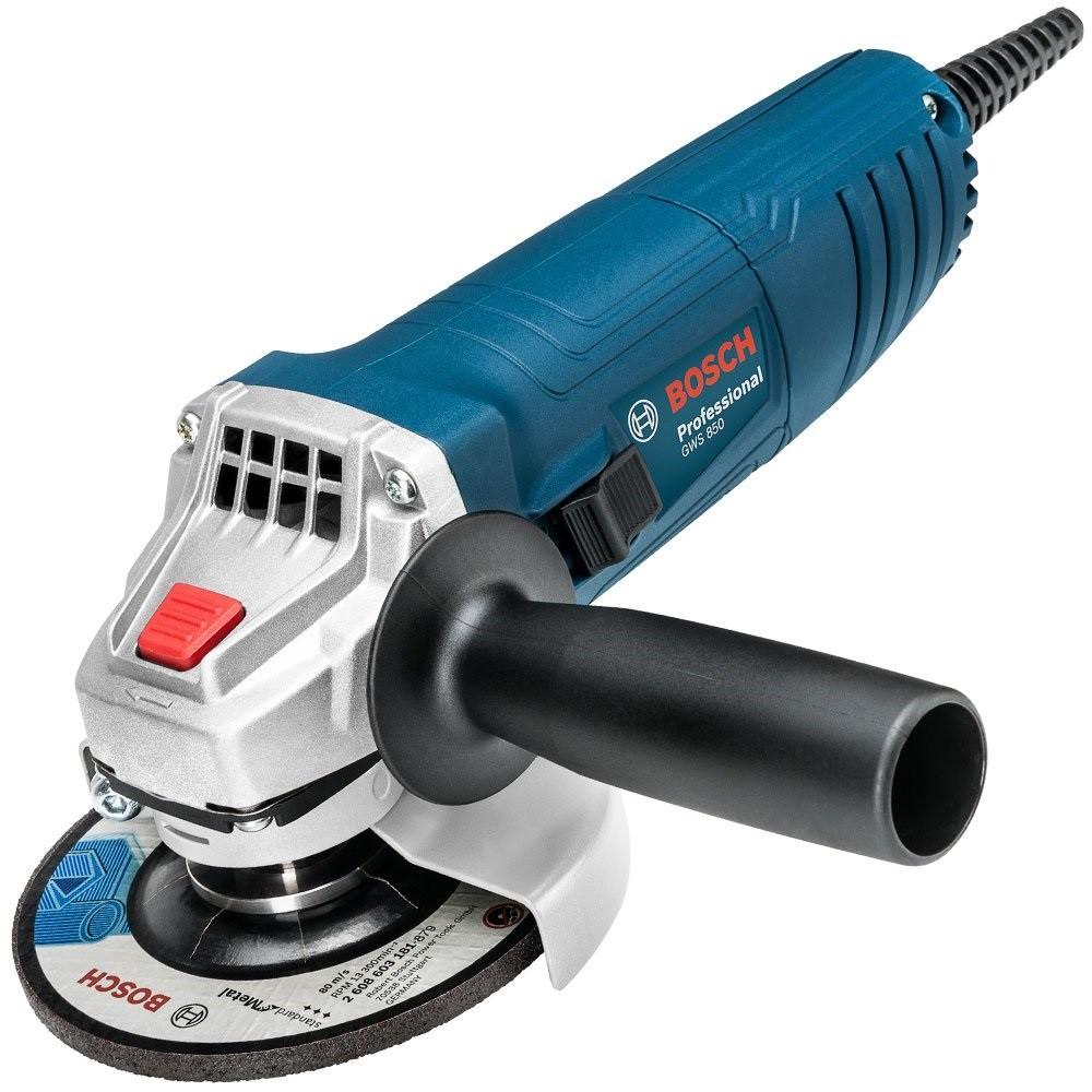 """Esmerilhadeira Bosch 4 1/2"""" GWS 850 127v M14 06013775D0000"""