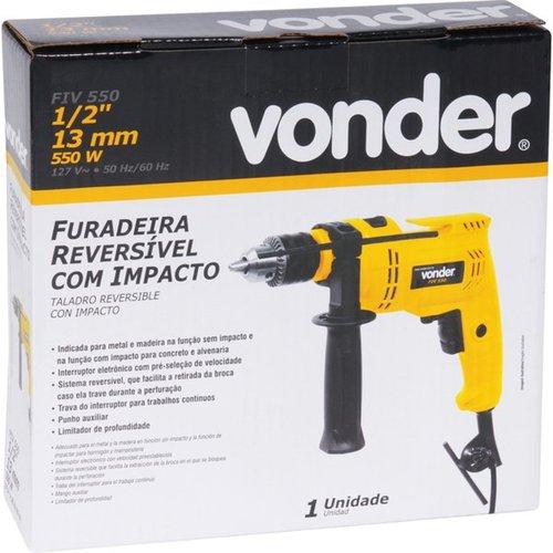 """Furadeira com Impacto 550w 1/2"""" 127v FIV550N Vonder 6001550127"""