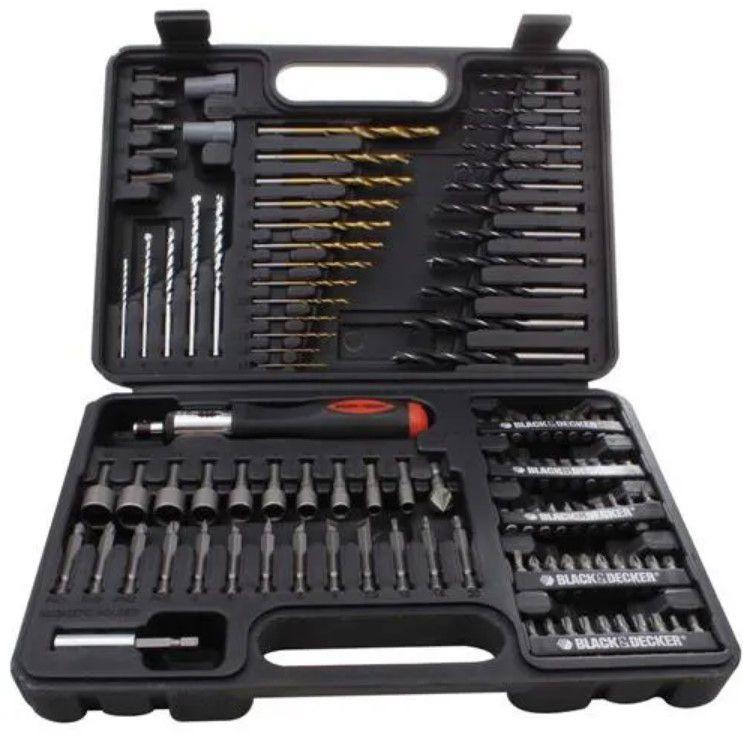 Jogo Perfuração/Parafusamento Laser 115 Pcs A7132LA Black Decker