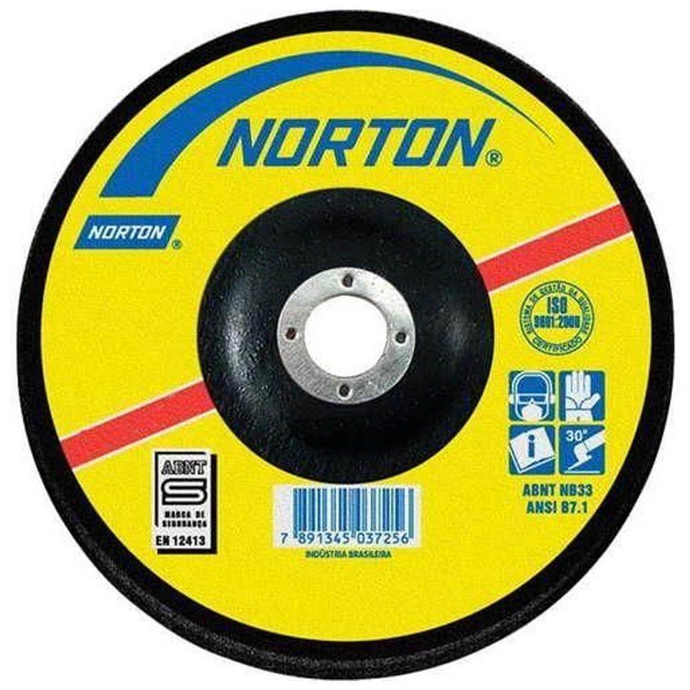 Kit 10 Unidades Disco Desbaste 4.1/2 pol 115x5x22,22 Bda-50 Norton