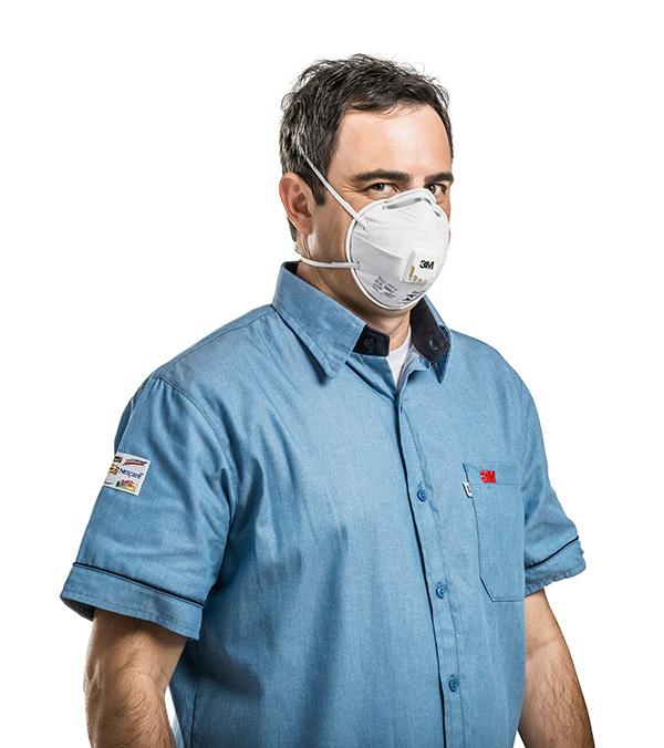 Kit 20 Máscaras Respiratórias Descartáveis 3M PFF2 8801 S/ Valvula CA 2072