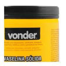Kit 3 Vaselinas Sólidas Branca 450g Vonder 516045000