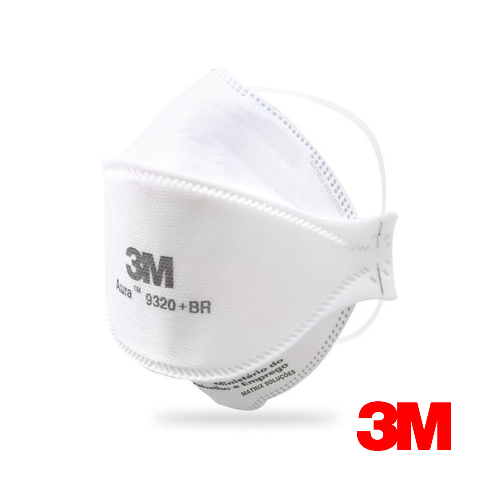 Kit 50 Respiradores 3M Aura 9320+BR PFF-2 S/ Válvula CA 30592 (ref:12130)