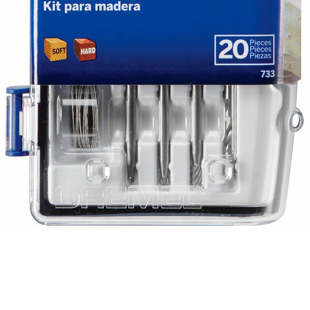 Kit Acessórios Dremel para Madeira com 20 Peças 26150733AB