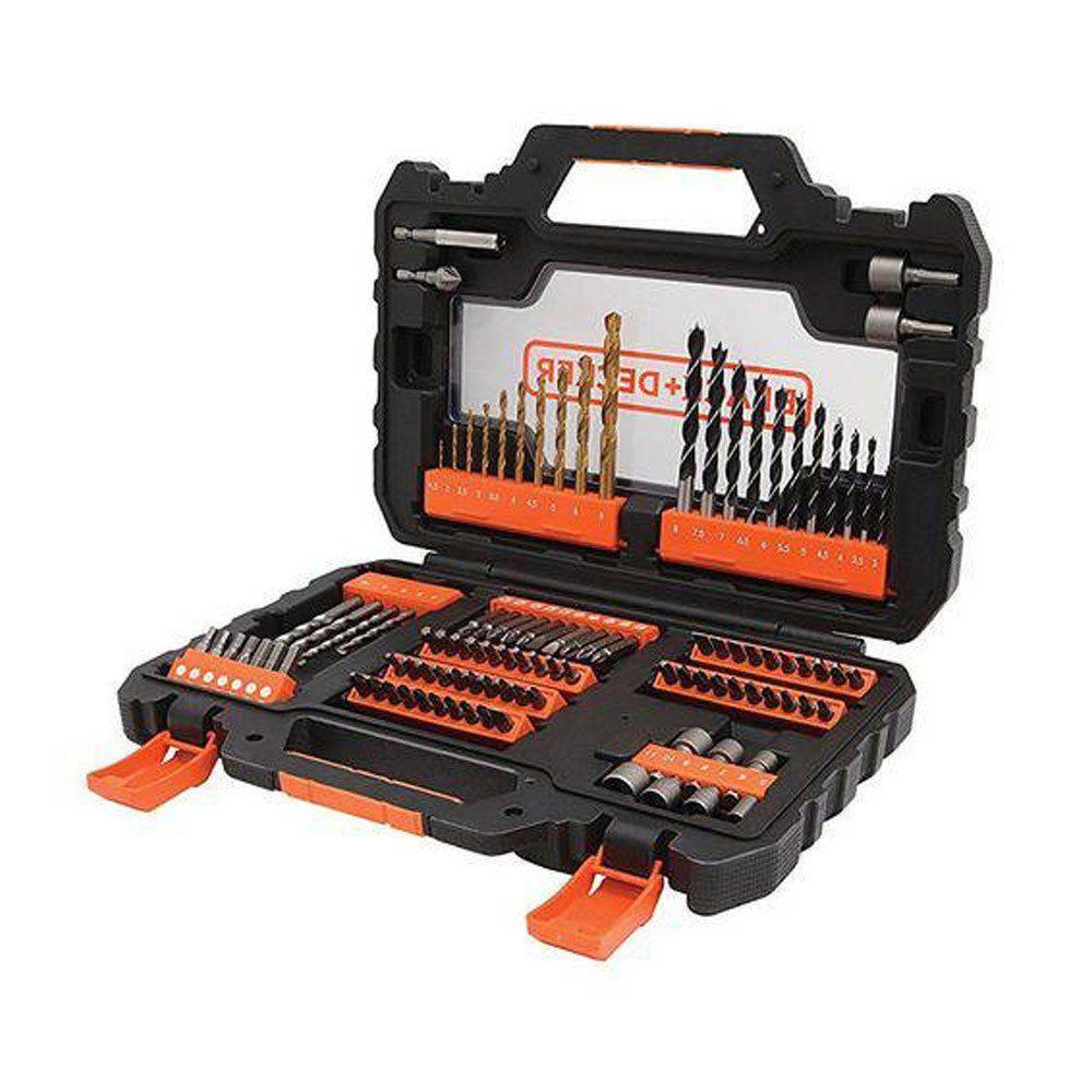 Kit de Ferramentas Black E Decker 104 Peças Para Furar E Parafusar A7230-xj