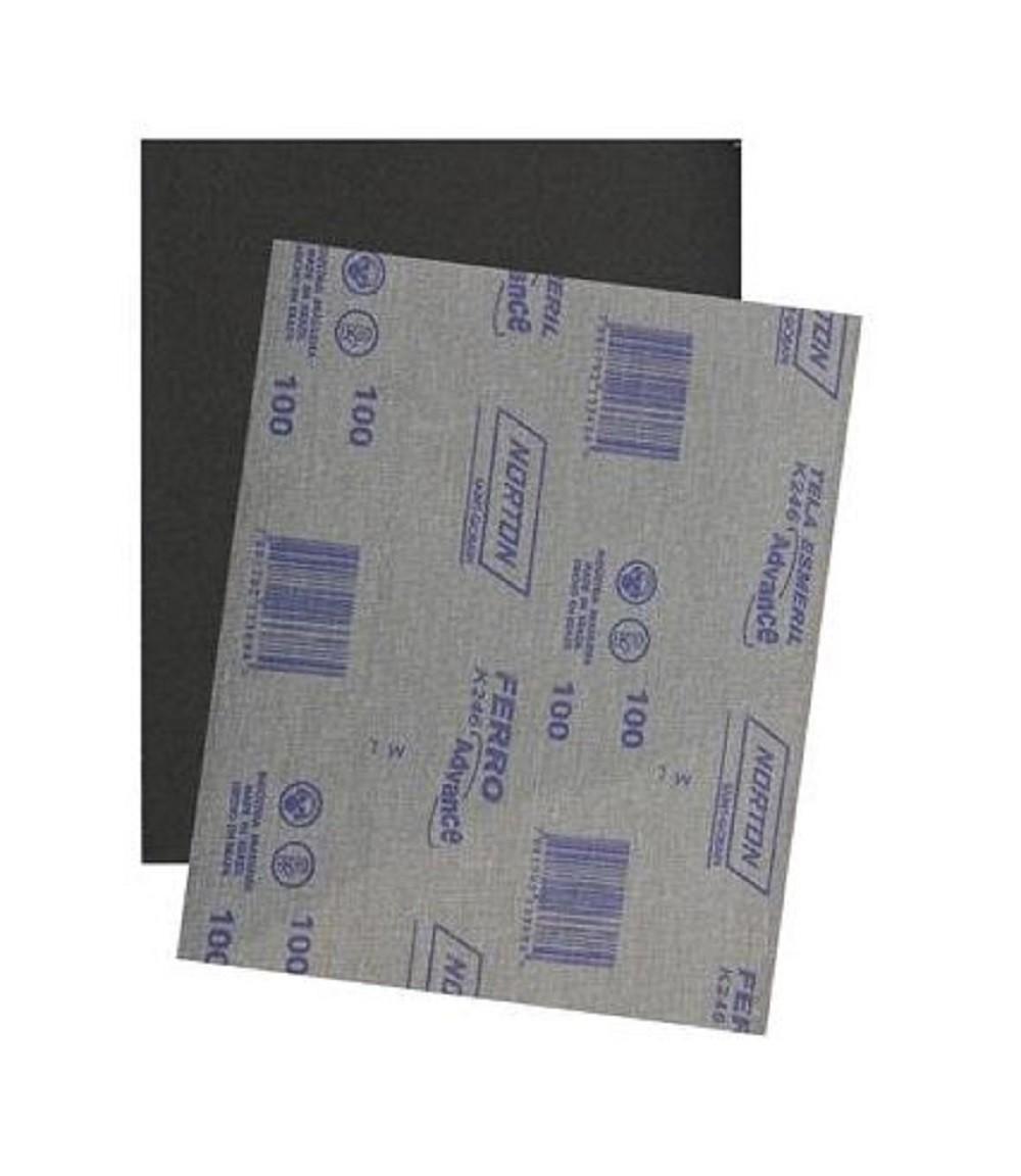 Lixa Ferro K246 Grão 150 Norton Pacote C/ 25 Folhas