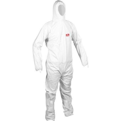 Macacao de Segurança Branco Steelflex Tam. M CA 39707