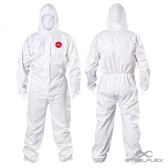 Macacão Tyvek Branco - Laminado - Kit Com 5 Peças - Tam M
