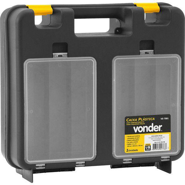 Caixa Plástica Para Furadeira C/ Organizador Vd-7001 Vonder