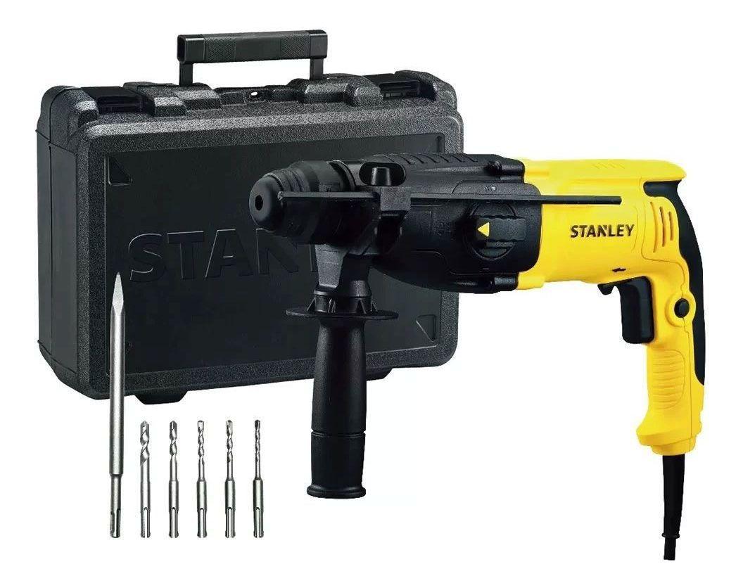 Martelete Sds Plus 800w 26mm 127v Stanley Kit 6 Brocas Shr263ka-Br