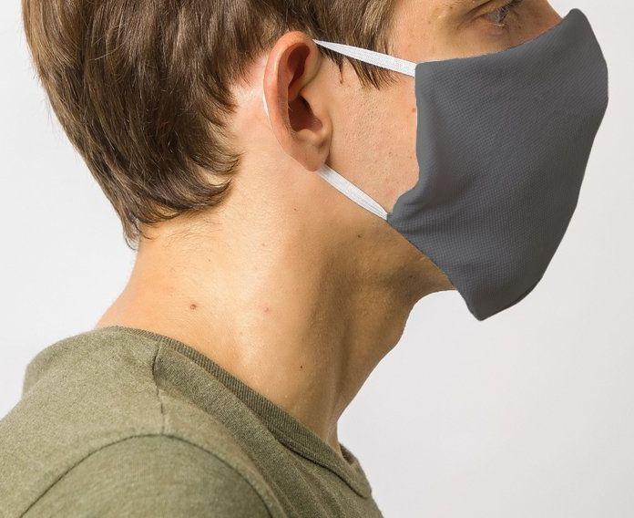 Mascara de Protecao Dupla Camada 100% Algodão Grafite