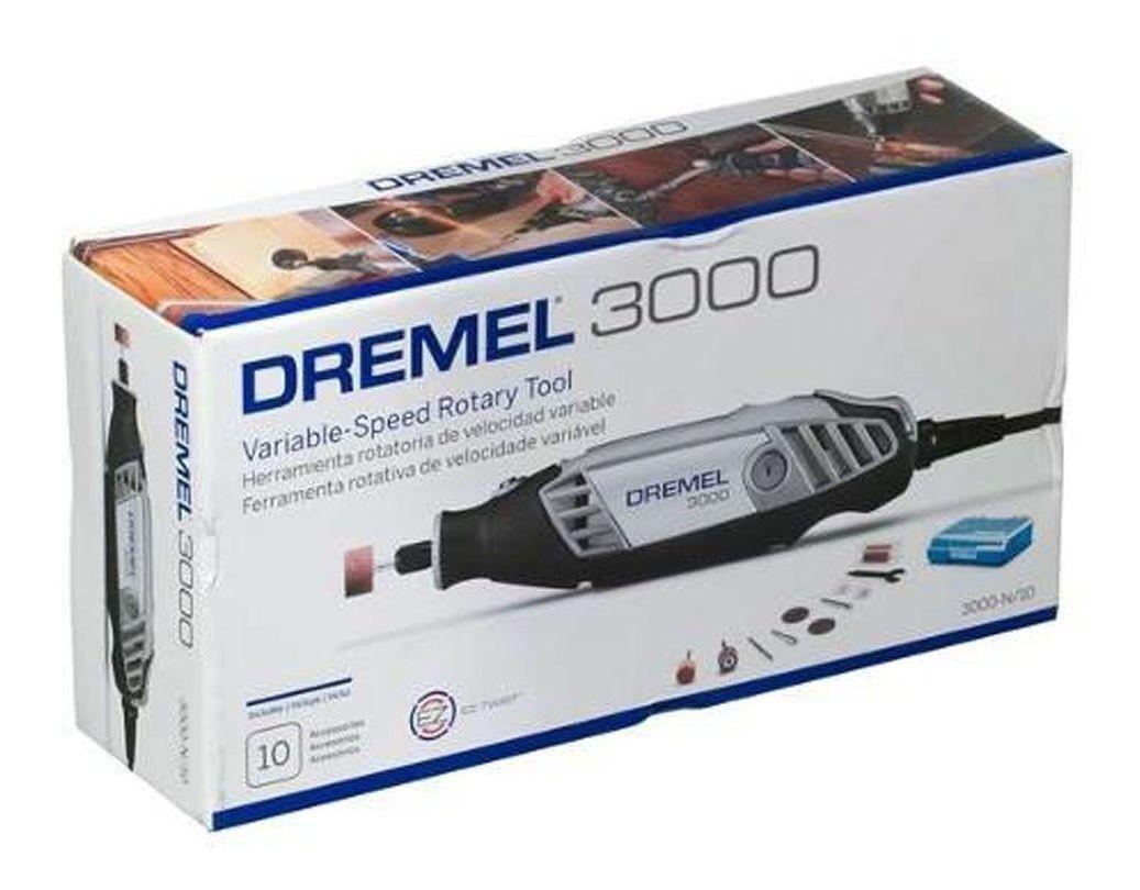 Micro Retífica 3000 C/ 10 Acessórios 130w 127v Dremel F0133000PB