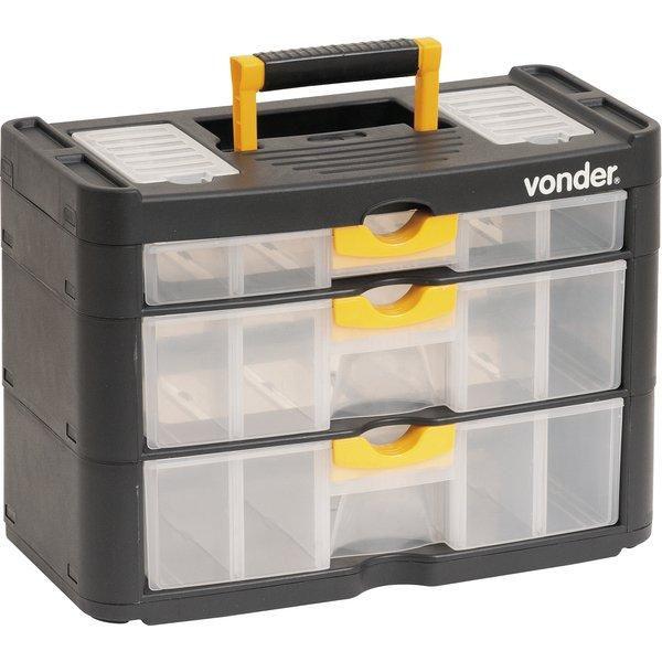 Organizador Plastico Opv 0400 3 Gavetas Vonder