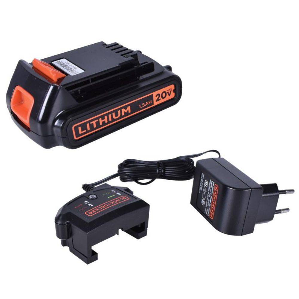 "Parafusadeira/Furadeira Bateria 20V c/ 45 Pcs 3/8"" LD120KA Black Decker"