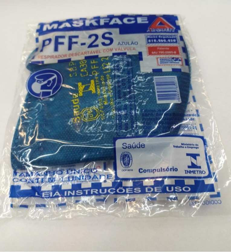 Respirador Mascara PFF2 c/ Valvula Air Safety CA 38954