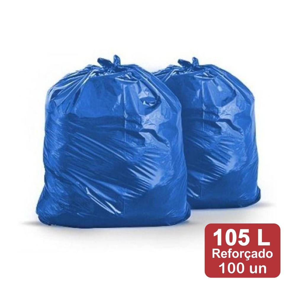Saco de Lixo 105 Litros Azul M5 Reforçado 100un Plast Veneza