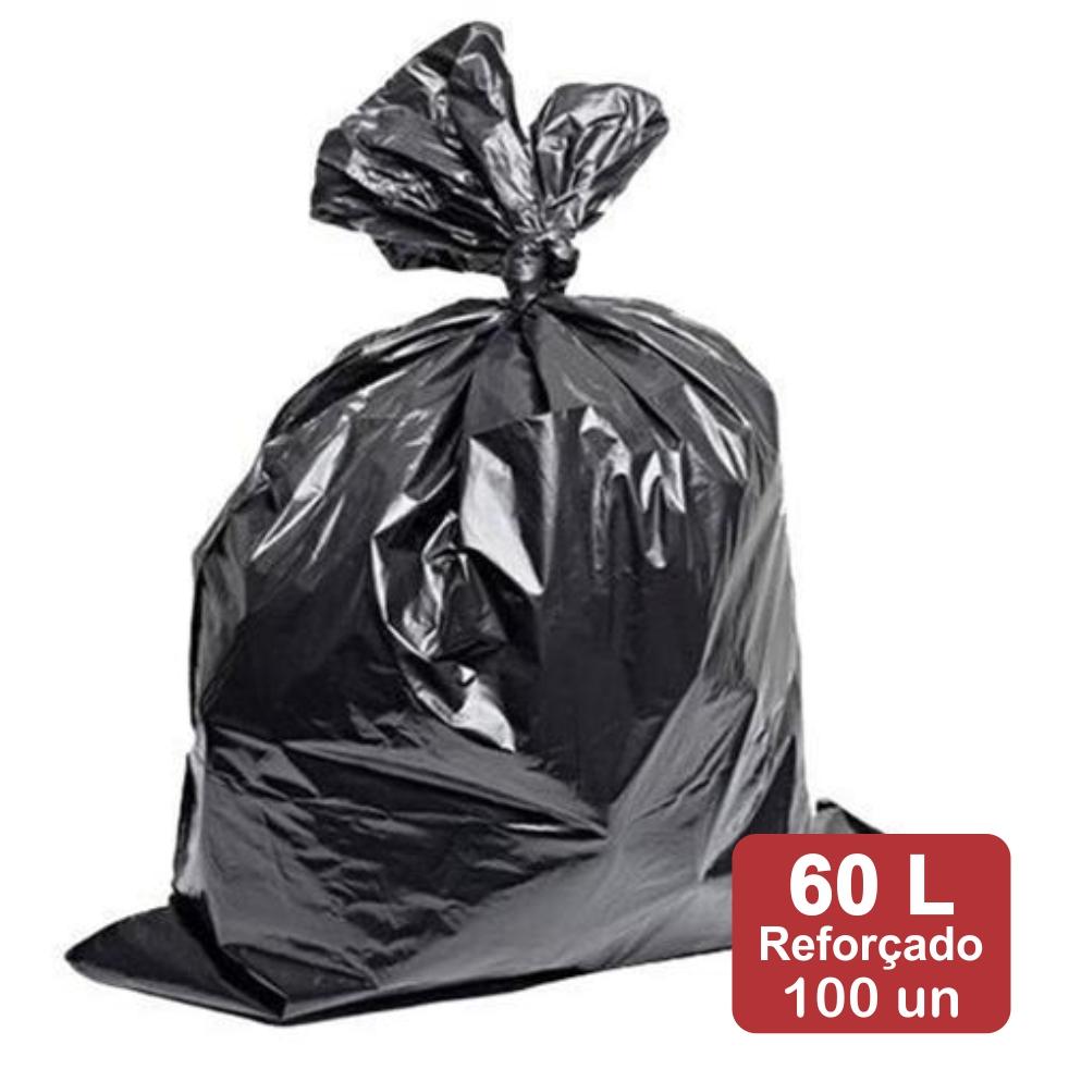 Saco de Lixo 60 Litros Preto Reforçado 100un Plast Veneza