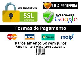 formas de pagamento e segurança