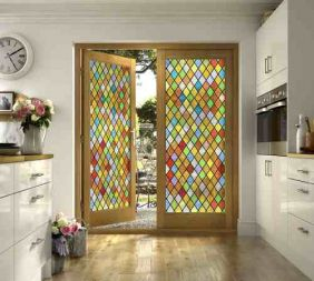 Vitral Adesivos Para Vidros Portas Janelas Ref M1