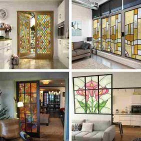 Vitral Adesivos Para Vidro - Porta Janela Cozinha Banheiro