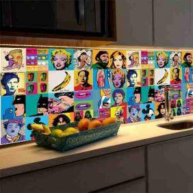 Papel Parede Pop Art Cozinha Banheiro 90x340cm Rolo
