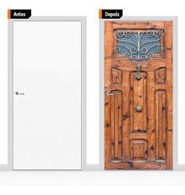 Adesivo Decorativo Porta Textura Madeira Pex03