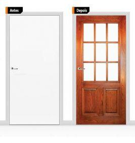 Adesivo Decorativo Porta Textura Madeira Pex02