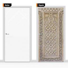 Adesivo Decorativo Porta Textura Árabe Pex06