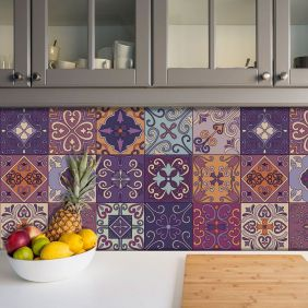 Adesivo Azulejo Português Ladrilho Para Cozinha Mod12