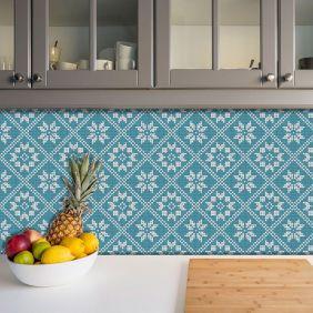 Adesivo Azulejo Português Ladrilho Para Cozinha Mod14