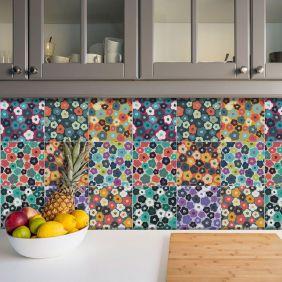 Adesivo Azulejo Português Ladrilho Para Cozinha Mod15
