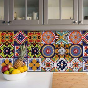 Adesivo Azulejo Português Ladrilho Para Cozinha Mod1