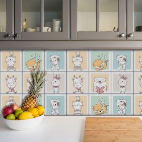 Adesivo Azulejo Português Ladrilho Para Cozinha Mod22