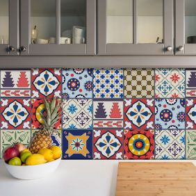 Adesivo Azulejo Português Ladrilho Para Cozinha Mod23