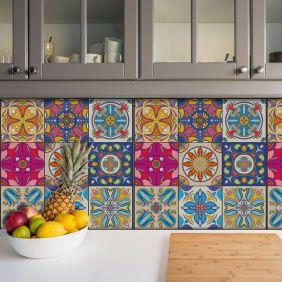 Adesivo Azulejo Português Ladrilho Para Cozinha Mod24