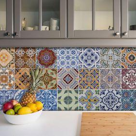 Adesivo Azulejo Português Ladrilho Para Cozinha Mod5