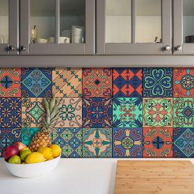 Adesivo Azulejo Português Ladrilho Para Cozinha Mod6