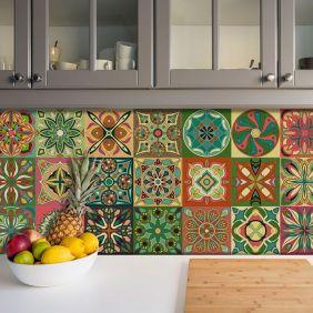 Adesivo Azulejo Português Ladrilho Para Cozinha Mod7