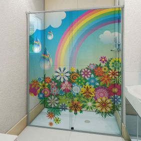 Adesivo Box Banheiro 3d Sob Medida - Mod 102