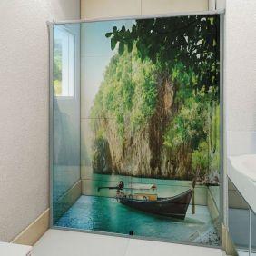 Adesivo Box Banheiro 3d Sob Medida - Mod 109
