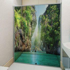 Adesivo Box Banheiro 3d Sob Medida - Mod 110