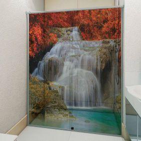 Adesivo Box Banheiro 3d Sob Medida - Mod 116