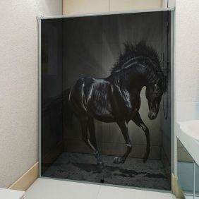 Adesivo Box Banheiro 3d Sob Medida - Mod 124