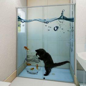 Adesivo Box Banheiro 3d Sob Medida - Mod 128