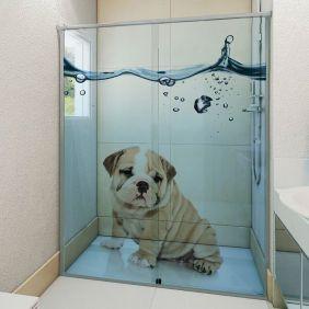 Adesivo Box Banheiro 3d Sob Medida - Mod 129