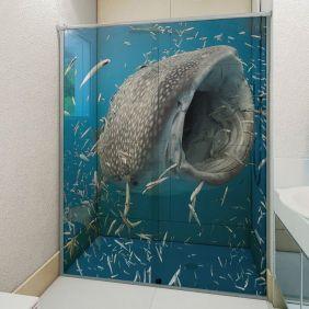 Adesivo Box Banheiro 3d Sob Medida - Mod 133