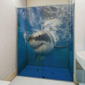 Adesivo Box Banheiro 3d Sob Medida - Mod 134-1